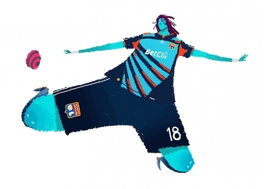 Nick Draws // The Illustration of Nick Iluzada #gesture #illustration #soccer
