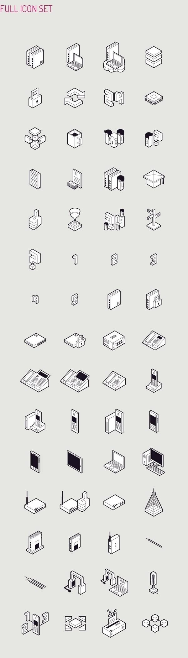 Datera SA   Isometric Icon Set designed by Perconte