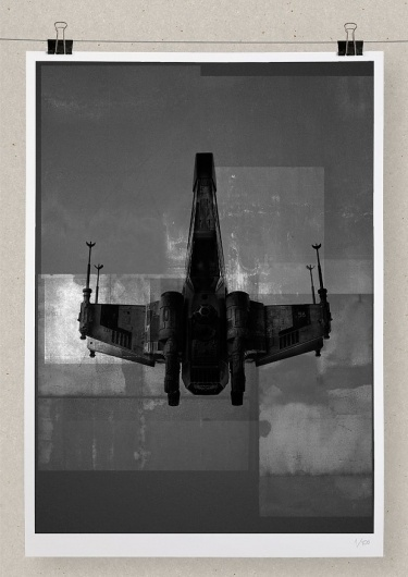 Editions of 100 — X—WING #print #wars #berg #star #poster