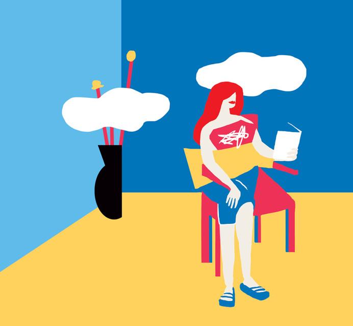Reading #fitza #illustration #room #simple #minimal
