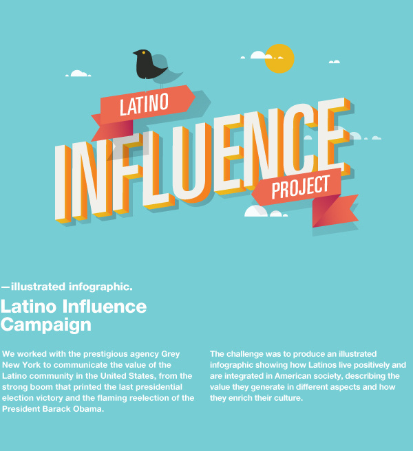 Latino Influence Project on Behance #creative #agency #dhnn #info #graphics