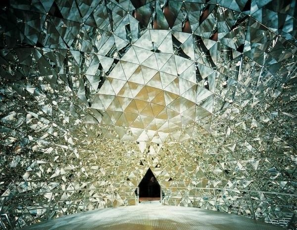 Tent of the 595 Mirrors #sculpture #architecture #art