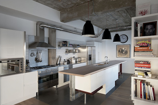 The Design Chaser: Homes to Inspire | London Loft Apartment #interior #design #kitchen #deco #decoration
