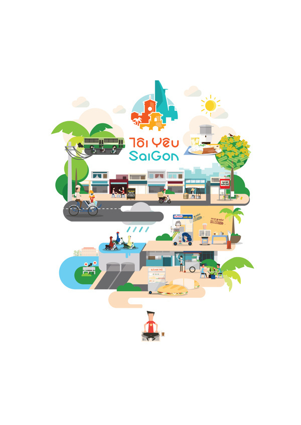 Saigon Illustrations by Tú Bùi #vietnam #illustration #saigon #tbi