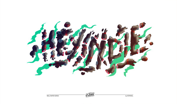 hey indie wallpapper on the Behance Network #cut #whispy #smoke #off #sliced
