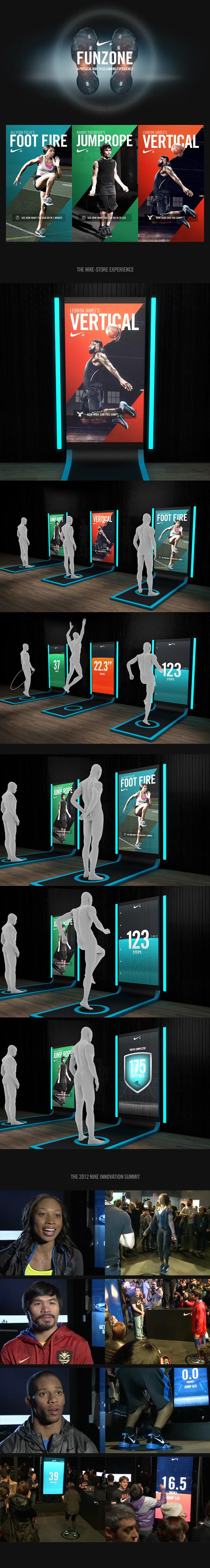 Nike+ FunZone on Behance #http #wwwworkitkittycom