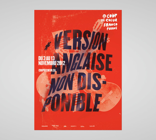 Coup De Coeur by Philippe Cossette #distorted #typography