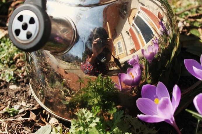 The Tea Kettle Adventures: Reflected Self-Portraits by Esha Biswas