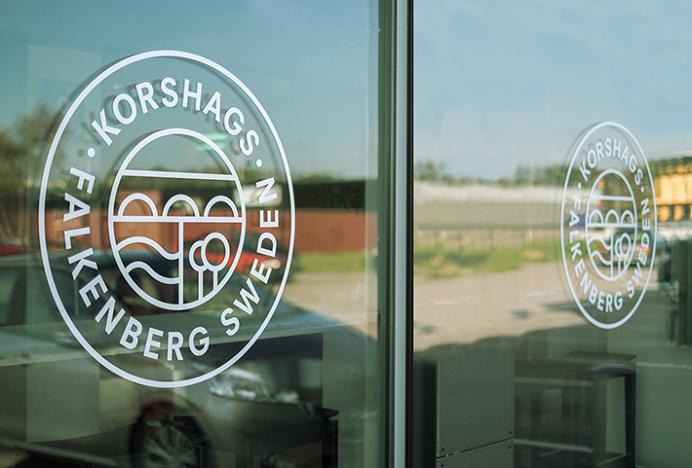 Korshags by Kurppa Hosk #brand design #logo #sign #glass print