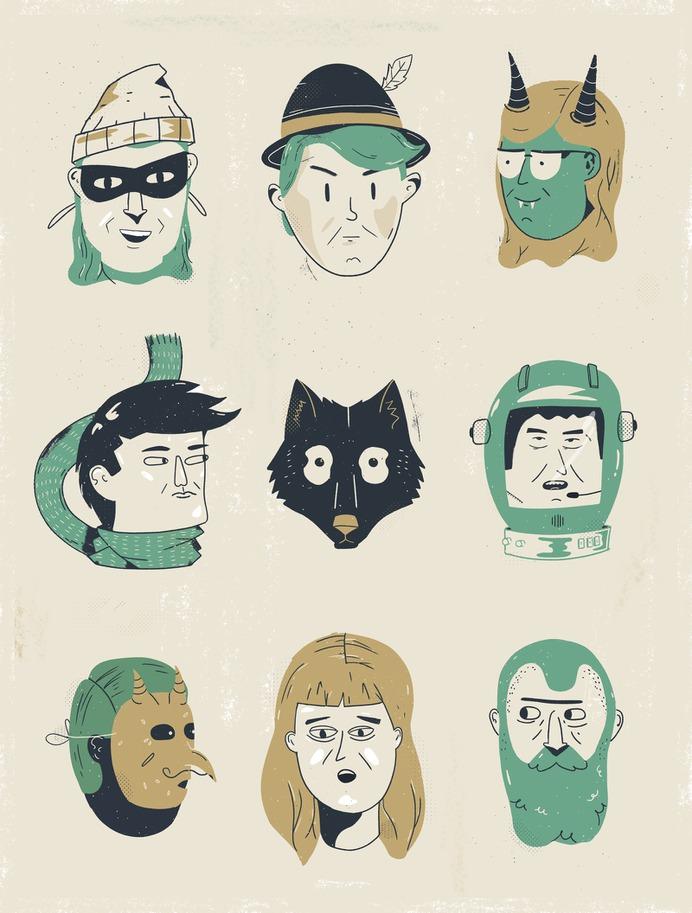 Faces by Rodrigo Fortes