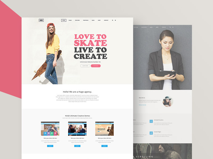 HUGE Modern & Elegant Website Samples #website #template