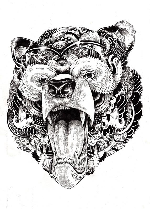 Animal illustrations and shirt designs on Behance #iain #wildlife #macarther