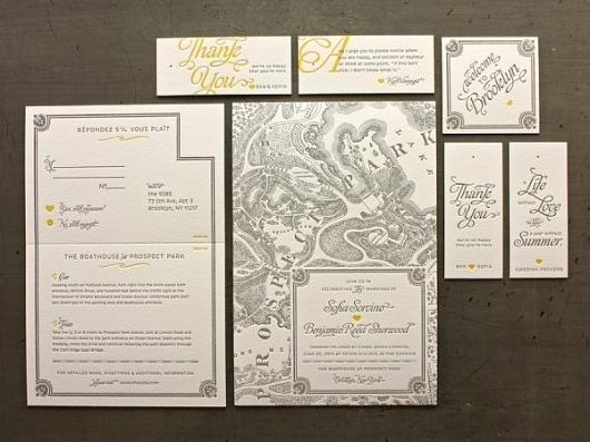 Brooklyn Wedding Invitations « Beast Pieces #print #letterpress #typography