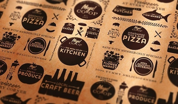 Branding and Package Design #brier #branding #co-op #design #icons #food #rebranding #vintage #logo #david #typography