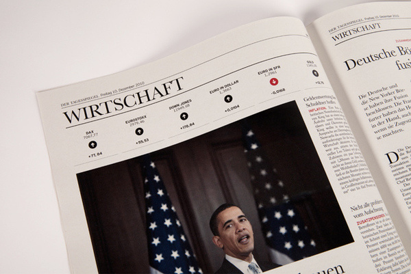 Ressort Wirtschaft #design #germany #newspaper #editorial #layout #berlin