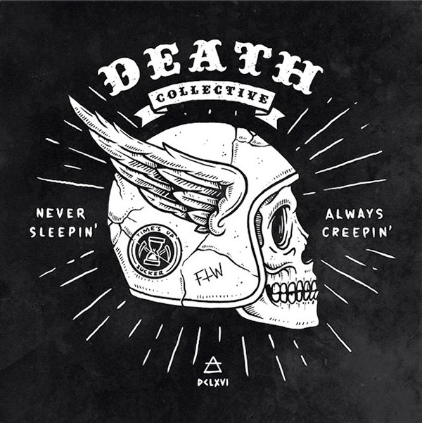 DEATH COLLECTIVE on Behance by Benny Blunder #typography #drawn #hand #illustration