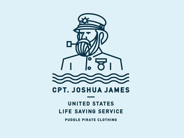 Puddle Pirate Monoline Logo