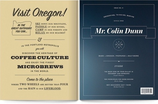 Personal Magazine – Portfolio & Blog of Designer Colin Dunn #script #branding #print #slabserif #vintage #typography
