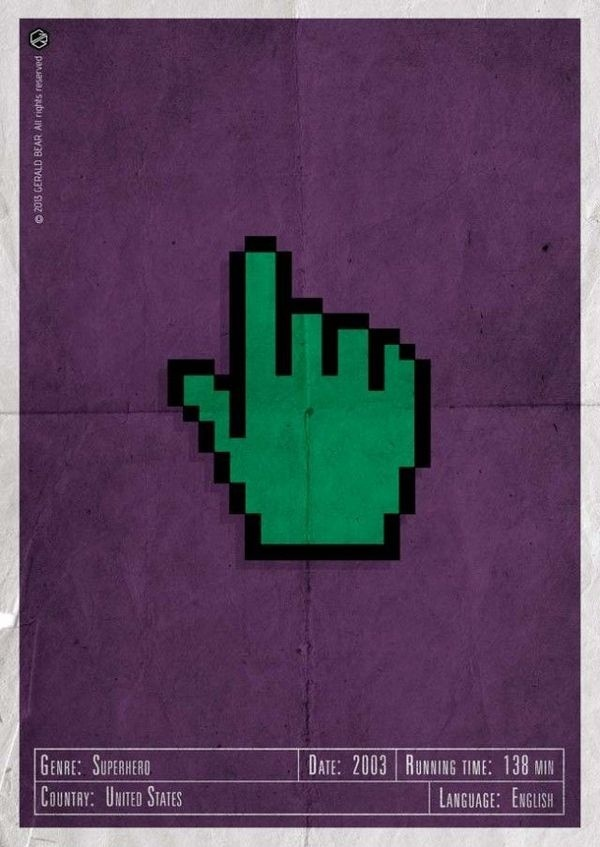 H-and Movie #movie #superhero #and #gamma #design #gerald #vintage #poster #web #bear #rays #hand #action