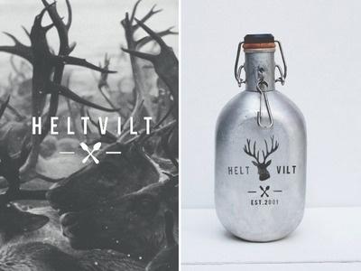 Helt Vilt #logo #design #graphic #bottle