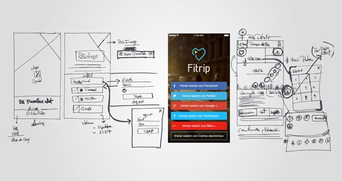 Fitrip App #branding #uiux #mobile #app #fitness #travel #city #venezuela #startup #simple #minimal #minimastudio #fitrip