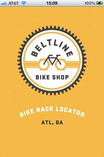 trackosaurus rex - Beltline Bike Shop Rack Locator! #logo #circle #bike