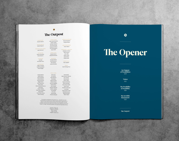 The Outpost - 00 on Behance #grid #layout #editorial