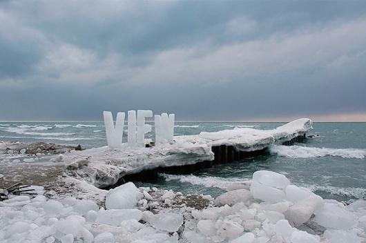 Ice Typography | Fubiz™ #ice #typography
