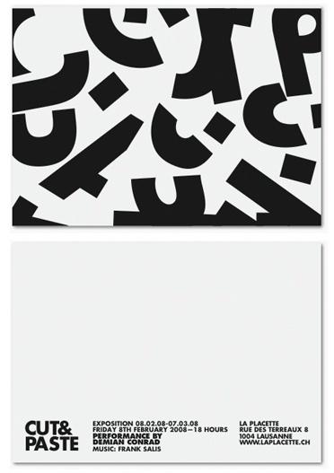 Cut&Paste by Demian Conrad | Shiro to Kuro #white #design #graphic #black #bw