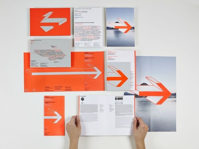 ccrz - Collezione Olgiati - The Second Year #print #folded #brochure #arrow
