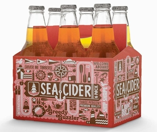 Sea Cider | Awesome Design Inspiration #bear #packagging #empaque #troquel