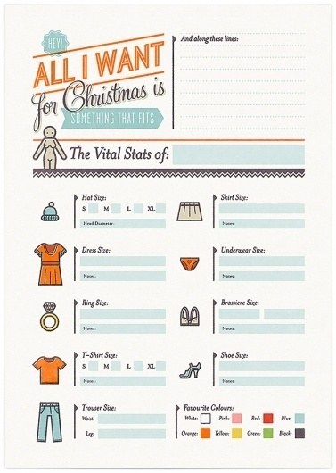 Christmas Cheat Sheets - Cookie #design #icons #cookie #christmas #illustration #wish #list #typography