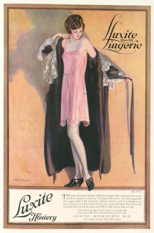 lingerie, advertising, vintage