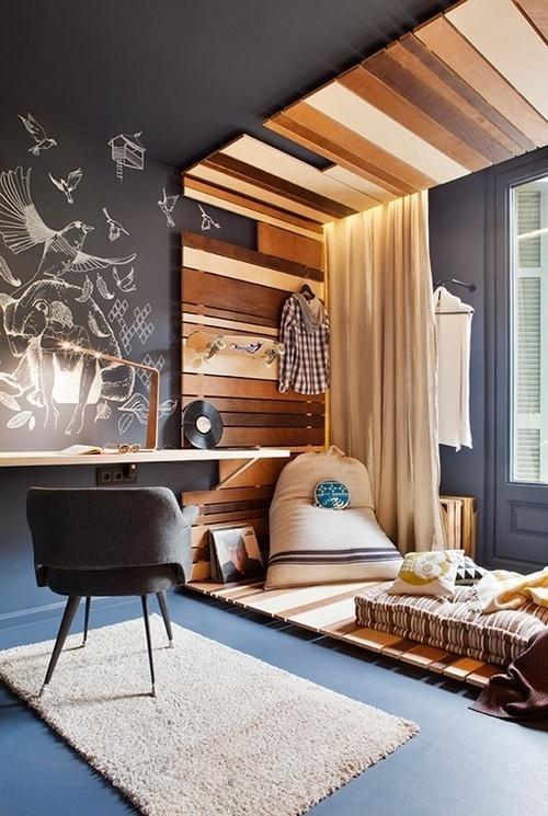 dim lamp light. #wood #room #space