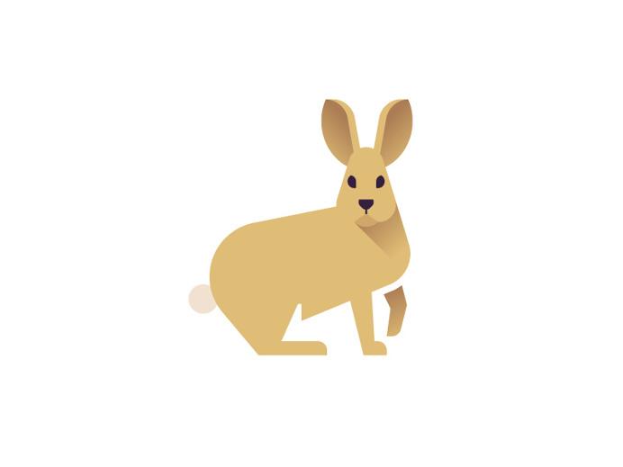 Bunny by Sascha Elmers #icon #illustration #geometric #animal #bunny #rabbit #wildlife #icondesign #iconic
