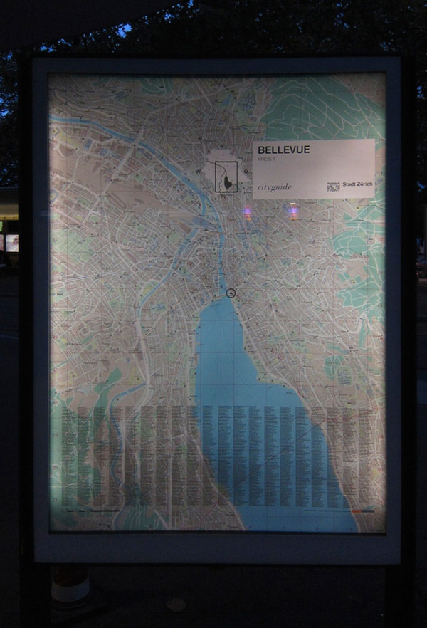 Zurich City Map #swiss #design #graphic #map #wayfinding #zurich