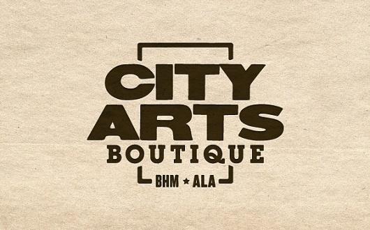 Ryan D. Harrison Design » City Arts Boutique #logo #texture #typography