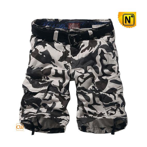 100% Cotton Camo Cargo Shorts CW140196