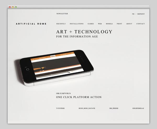 Artificial Rome #website #layout #design #web