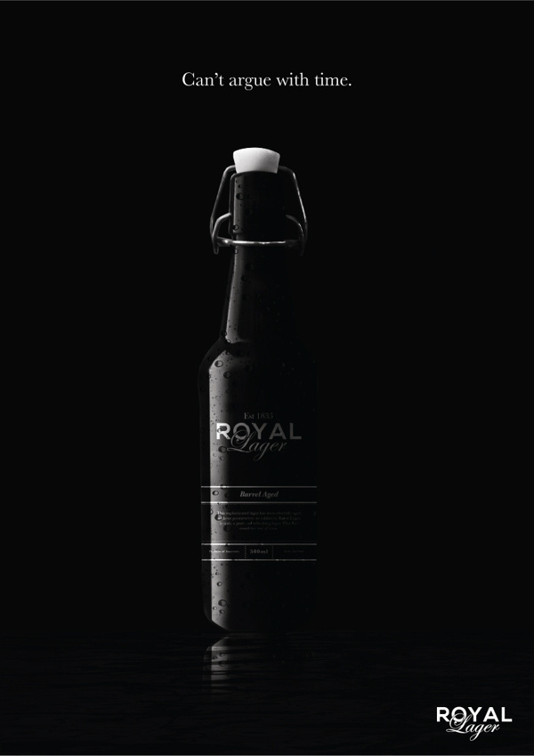 Royal Lager on Behance #beer #black #beautiful #bottle #lager #wingtop