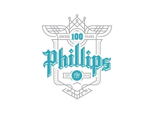 Phillips - Cheers to 100 Years Campaign on the Behance Network #logo #logotype