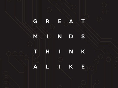 Great Minds #design #graphic #typography