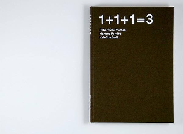 Atelier Carvalho Bernau: 1+1+1=3 #cover #book
