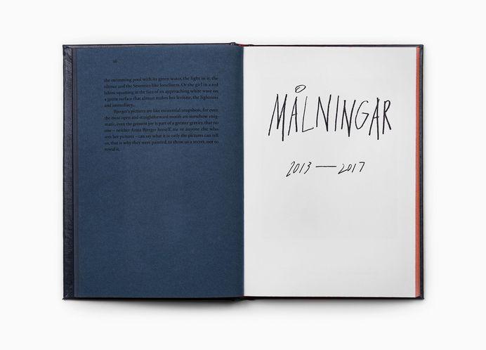 Swedish artist Anna Bjerger's book of works 2013—2017 designed by Scandinavian design studio Bedow