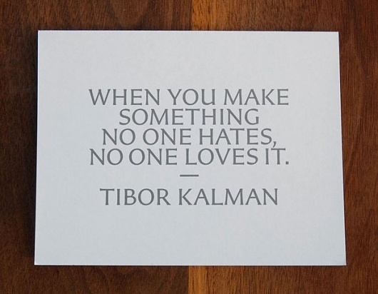 New Work: Art Directors Club Hall of Fame Gala | New at Pentagram | Pentagram #quote #pentagram #kalman #tibor