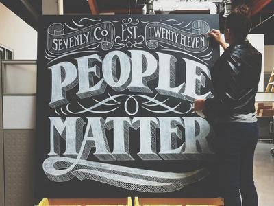 People Matter #chalk