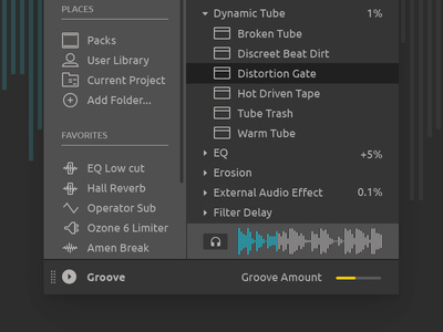 Ableton Live Redesign - Browser