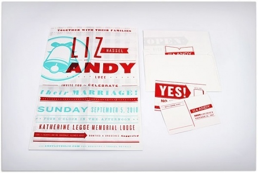 Andy & Liz Wedding Invitation - FPO: For Print Only #wedding #invitation