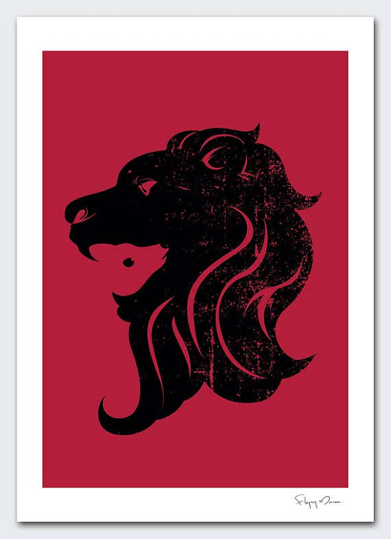I Got a Deer by flyingmouse365 on Etsy #maroon #lion #design #illustration #lamb