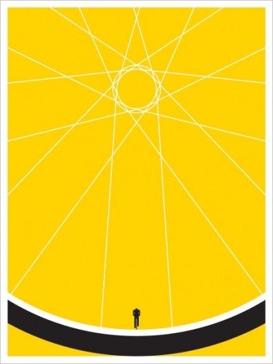 JASON MUNN - Biker - Poster #states #silkscreen #small #bicycle #poster